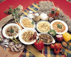Typical dishes of Louisiana Creole cuisine