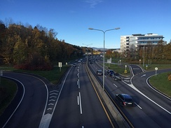 E6 highway at Brattlikollen outskirts of Oslo