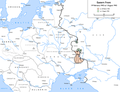 German advances at Kharkov and Kursk, 19 February 1943 to 1 August 1943:   to 18 March 1943   to 1 August 1943