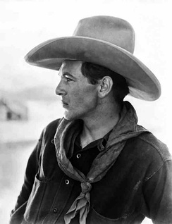Photo of Gary Cooper wearing a cowboy hat