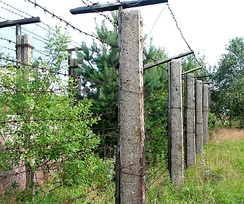Remains of Iron Curtain in former Czechoslovakia at the Czech-German border