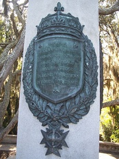 Replica of Jean Ribault's column claiming Florida for France in 1562
