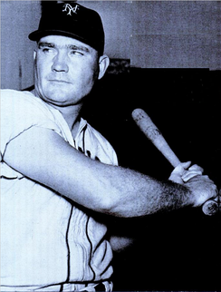 First baseman Johnny Mize twice led the league in home runs and runs batted in as a Cardinal.
