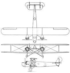 Keystone Panther 3-view drawing from Aero Digest July 1928