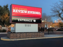Las Vegas Review-Journal sign
