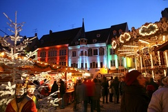 Christmas market in Mulhouse.