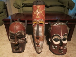 BaKongo masks from the Kongo Central region