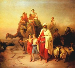 A painting of Abraham's departure by József Molnár