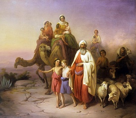 Abram's Journey from Ur to Canaan (József Molnár, 1850)
