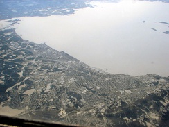 Aerial view of North Bay and Lake Nipissing