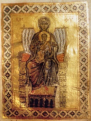 Theotokos Panachranta, from the 11th century Gertrude Psalter