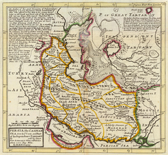 Map of the Safavid Empire, published 1736.
