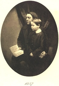 Edmund Gosse in 1857, with father Philip Henry Gosse