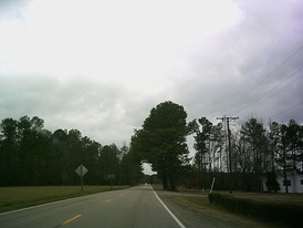 Rural scene along U.S. Route 301 in Prince George County