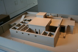 Model of an Ancient Egyptian house with windcatcher, Roemer- und Pelizaeus-Museum Hildesheim