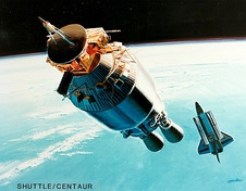 Illustration of Shuttle-Centaur with Ulysses