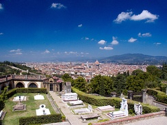 Porte Sante cemetery, burial place of notable figures of Florentine history.