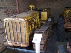 A Caterpillar D2, introduced in 1938, at the Serpentine Vintage Tractor Museum, Serpentine, Western Australia.