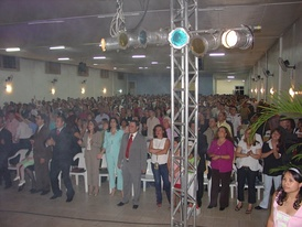 A Pentecostal congregation in Brazil