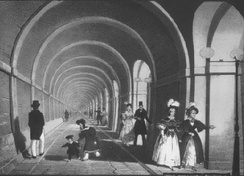 The Thames Tunnel (opened 1843).Cement was used in the world's first underwater tunnel.