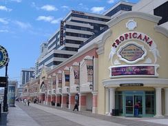 The Tropicana from the boardwalk