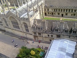 The south eastern corner of All Souls College, abutting Radcliffe Square