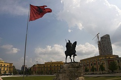 The Skanderbeg Square in Neo-Renaissance style.