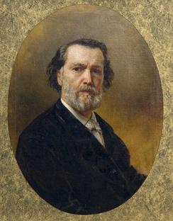 Шервуд Владимир Осипович, автопортрет, 1876