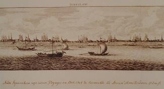 Вид Ярославля. Из сочинения «Путешествие в 1701—1708 годах Корнелия Ле Бруна». 1718 год.
