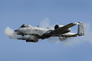 A-10 107th FS Michigan ANG firing gun 2010.jpg