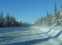Alaska Highway between Fort Nelson and Watson Lake