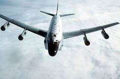 306th Strategic Wing RC-135 refueling over the North Sea