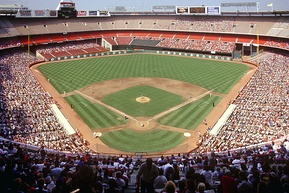 The Angels play at an enclosed Anaheim Stadium, 1991