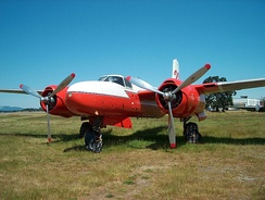 A Conair 322 (A-26 water bomber conversion) at the BC Aviation Museum, Sidney, BC