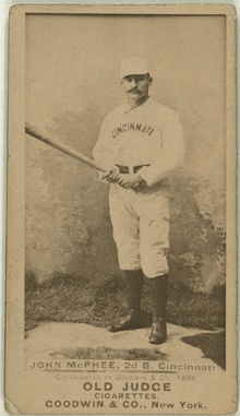 Bid McPhee, Cincinnati Red Stockings, baseball card portrait LCCN2007686981.jpg
