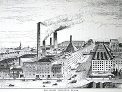 Jameson's Bow Street distillery pictured in Alfred Barnard's 1887 report on the distilleries of Britain and Ireland