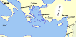The eastern Mediterranean region in the time of Paul the Apostle