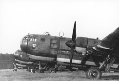 Heinkel He 177As, with the foreground aircraft's nose prominently showing the highly integrated bola under the cabin
