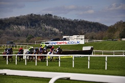 Horse racing at Chepstow racecourse
