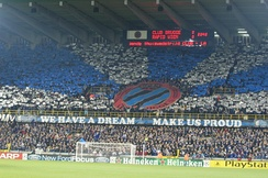 Tifo before the Champions League game Club Brugge-Rapid Wien in 2005