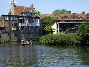 Darwin College's buildings from the River