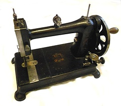 Vintage Davis vertical feed (walking foot) sewing machine produced around 1890