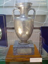 The 1988 trophy on display in Amsterdam