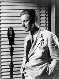 Actor and vocalist Dennis King had a weekly network radio program on WJZ in 1934.