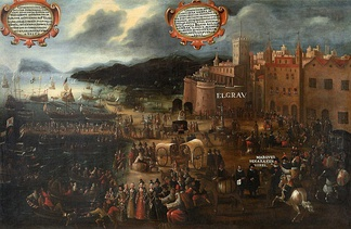 Expulsion of the Moriscos from Valencia Grau by Pere Oromig. Painting of 1616.