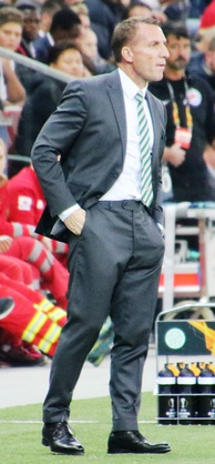 Brendan Rodgers led Celtic to a unique unbeaten domestic treble in the 2016–17 season