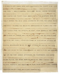 Robert Anderson's telegram announcing the surrender of Fort Sumter