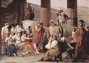 Odysseus Overcome by Demodocus' Song, by Francesco Hayez, 1813–15