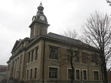 Franklin County Courthouse in Brookville Historic District