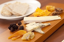 Some French cheeses with fruits